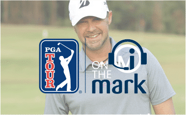 author mark immelman with pga loco and on the mark podcast logo