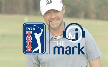 author mark immelman with pga loco and on the mark podcast logo