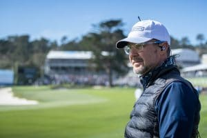 Mark Immelman, golf broadcaster, standing on golf course